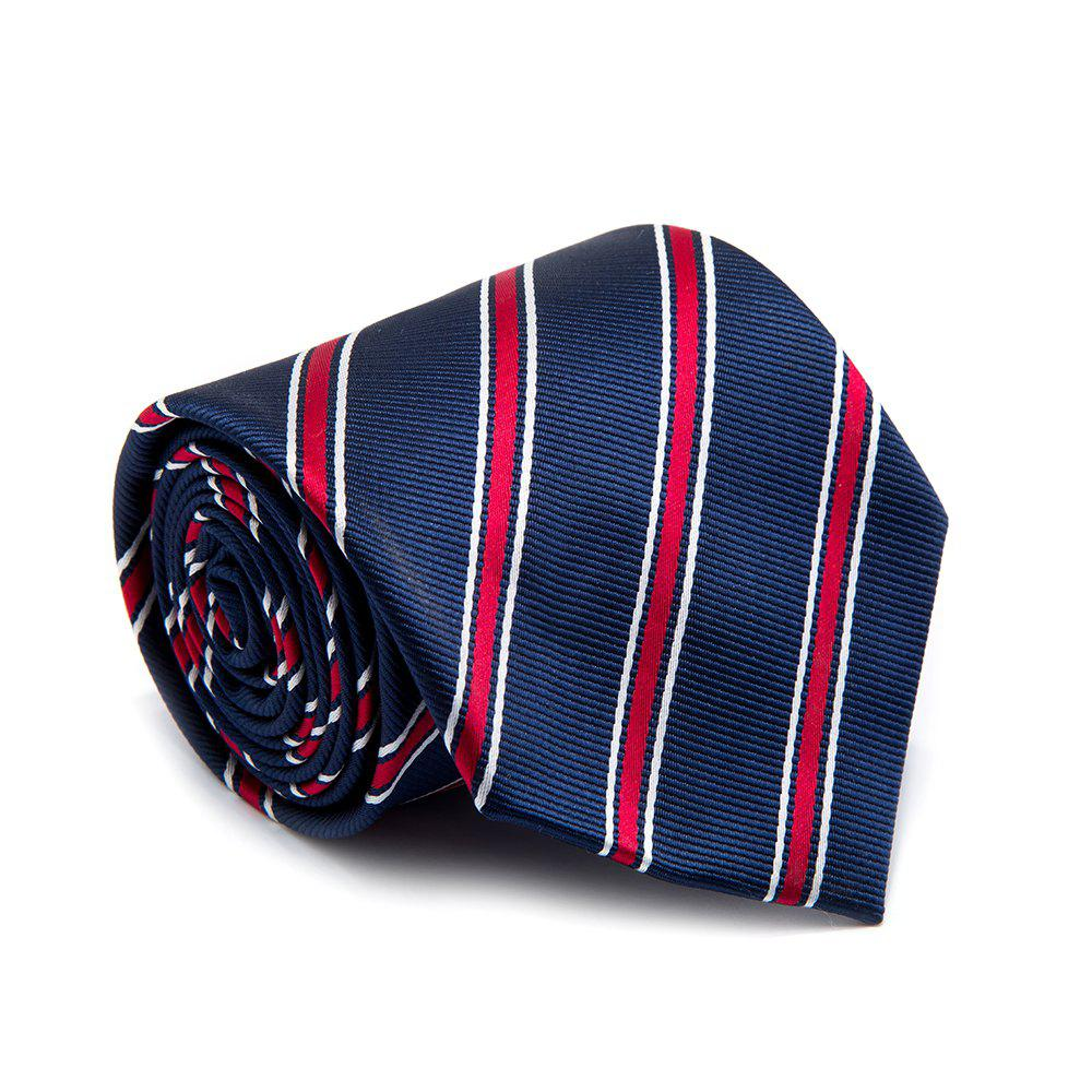 Men Tie Striped Patchwork Color Block Classical Necktie Accessory - STRIPE