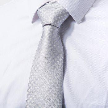Men Fine Tie Simple Style Comfy Business All Matched Necktie Accessory - QUARRY