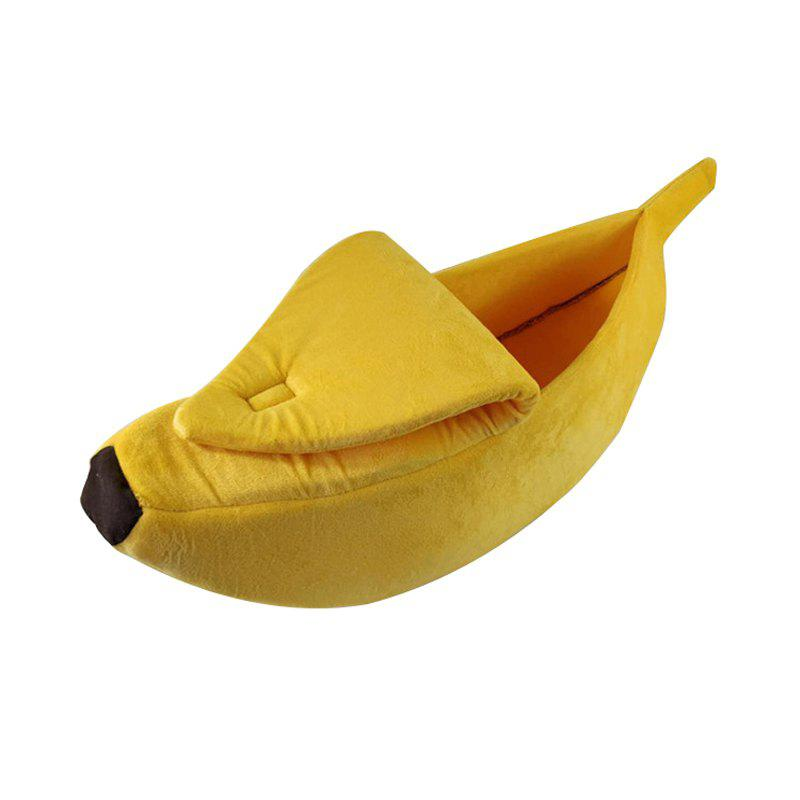 Winter Keep Warm Creative Banana Cat Nest Dog House Kennel Pet Home - YELLOW 55*20*15