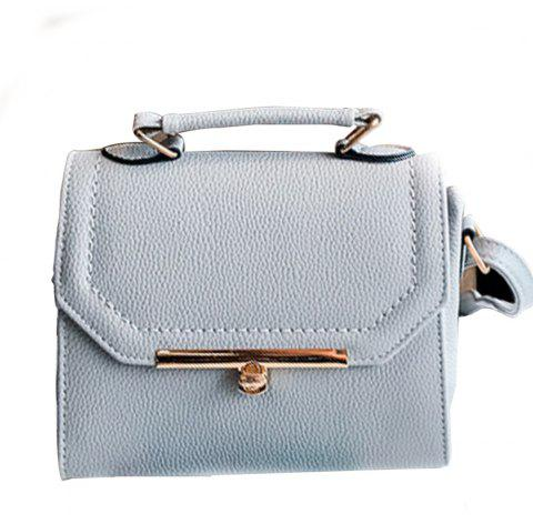 Women's Crossbody Bag Patchwork Ladylike All Match Brief Bag - GRAY