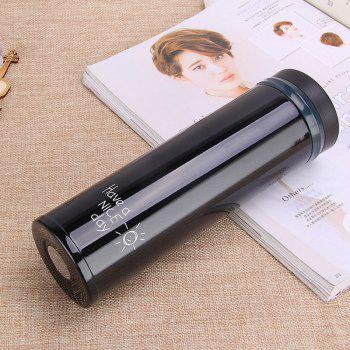 Women Portable Lovely Vacuum Cup Korean Edition Thermos - BLACK 500ML