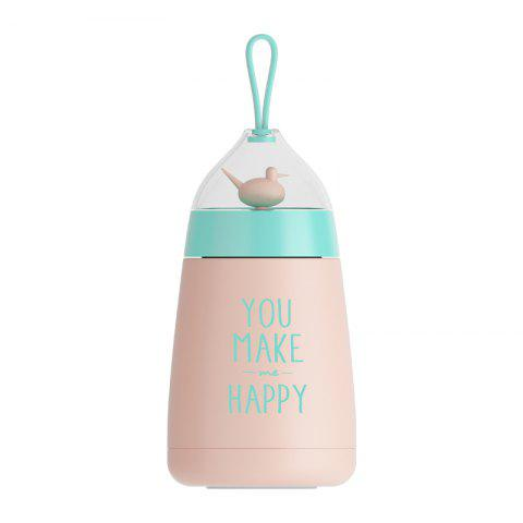 304 Stainless Steel Children Lovely Birdcage Vacuum Cup - PINK