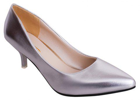 High Heels with Pointed Toes - SILVER 38