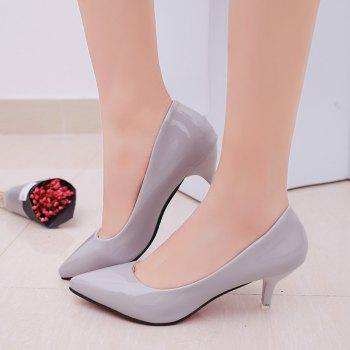 High Heels with Pointed Toes - GRAY 38