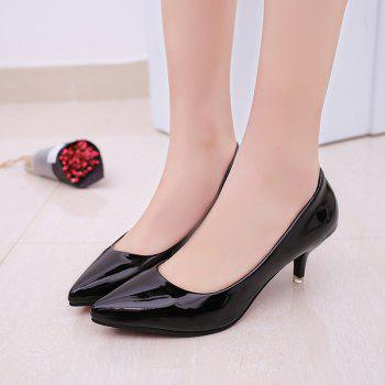 High Heels with Pointed Toes - BLACK 38