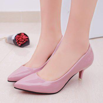 High Heels with Pointed Toes - PINK 38