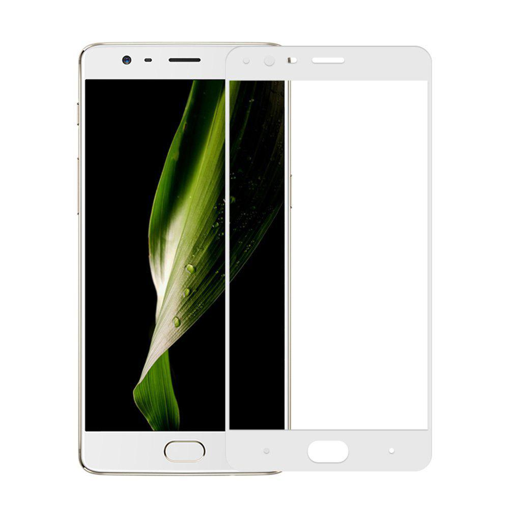 2PCS Screen Protector for OnePlus 3 HD 3D Full Coverage High Clear Premium Tempered Glass - WHITE