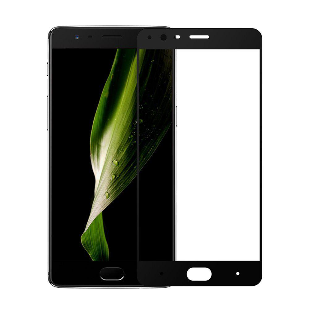 2PCS Screen Protector for OnePlus 3 HD 3D Full Coverage High Clear Premium Tempered Glass - BLACK