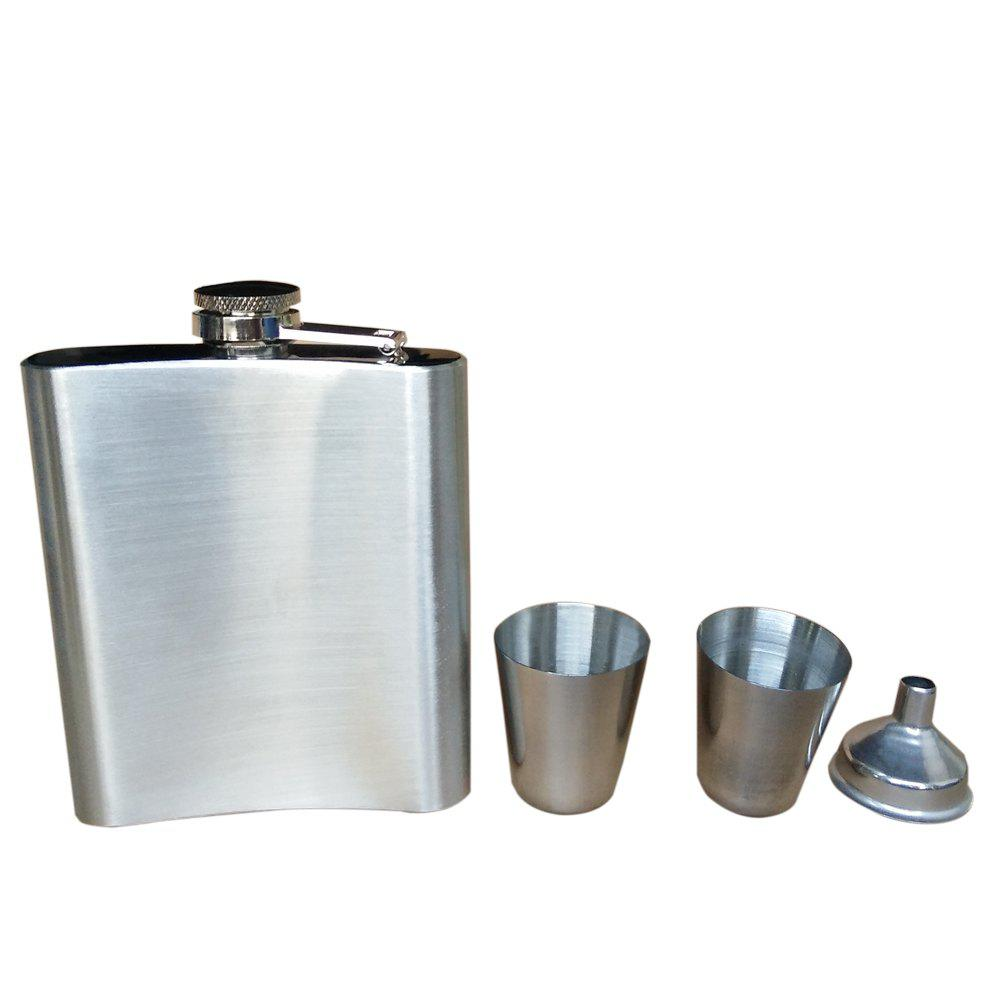 Stainless Steel Portable Jug Funnel Cup Man Great Gift - SILVER