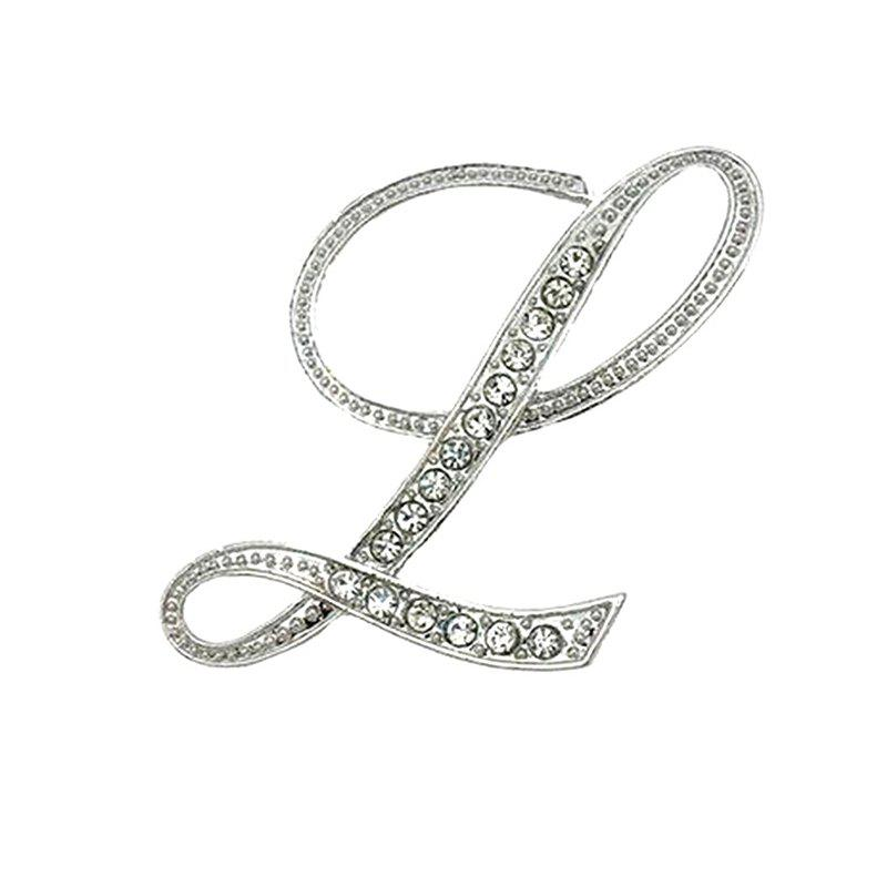 Crystal Fashion Classic Charm Clothing Accessories Brooch for Woman - LIT