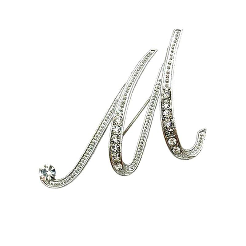 Crystal Fashion Classic Charm Clothing Accessories Brooch for Woman - M