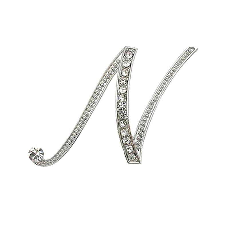 Crystal Fashion Classic Charm Clothing Accessories Brooch for Woman - NE