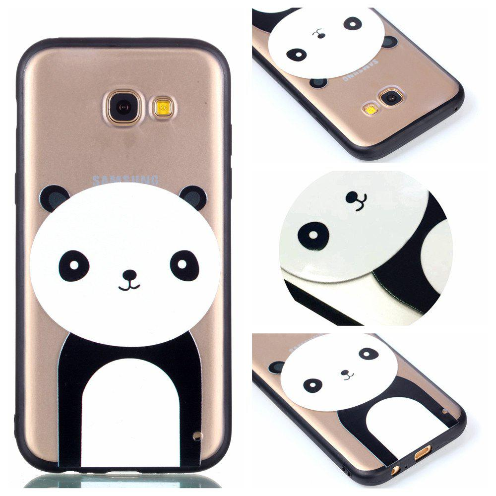 Cover Case for Samsung A5 2017 Relievo Giant Panda Soft Clear TPU Mobile Smartphone Cover Shell Case - BLACK WHITE