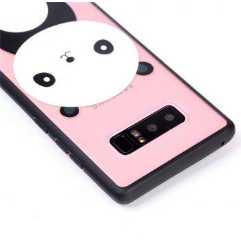 Cover Case for Samsung Note 8 Relievo Giant Panda Soft Clear TPU Mobile Smartphone Cover Shell Case - BLACK WHITE