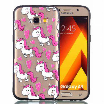 Cover Case for Samsung A3 2017 Relievo Unicorn Soft Clear TPU Mobile Smartphone Cover Shell Case - COLOUR