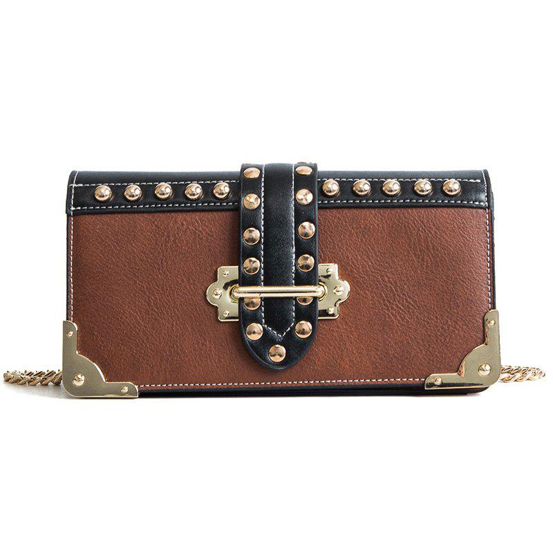 Wild Oblique Cross-Package Fashion Diagonal Shoulder Bag - BROWN