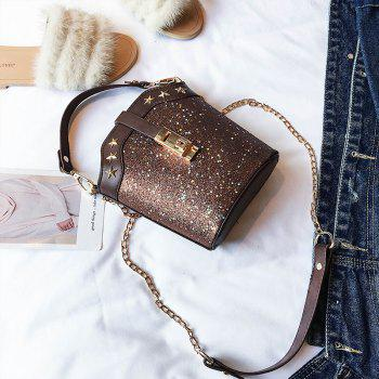 Wild Fashion Messenger Bag Handbag Shoulder Bag - BROWN