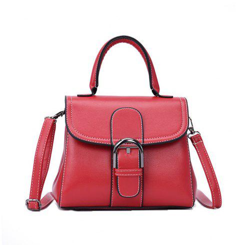 Fashion Saddle Bag Wild Shoulder Messenger Bag - RED