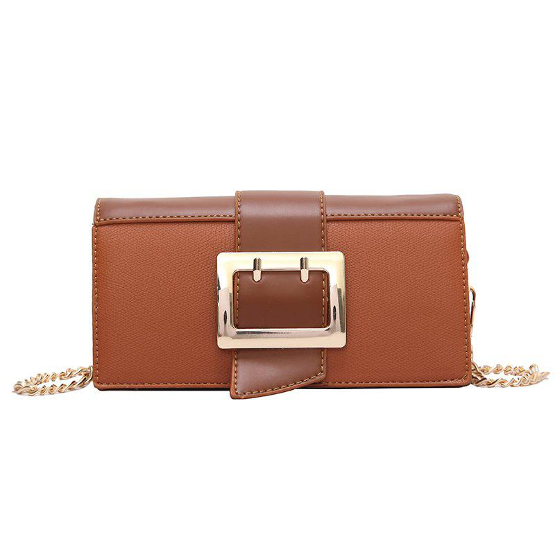 Messenger Bag Female Organ Shoulder Bag - BROWN