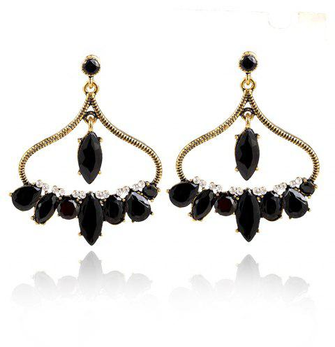 New and Simple Personality Earrings - GOLD/BLACK