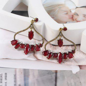 New and Simple Personality Earrings - GOLD/RED