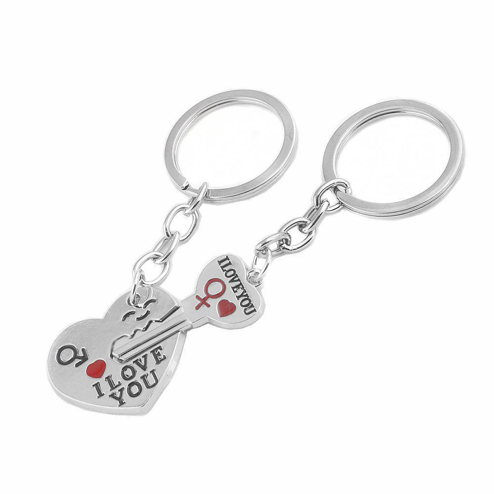 Creative Jewelry Men and Women Mosaic Key Chain - SILVER