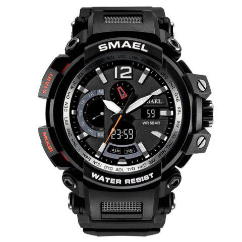 SMAEL 1702 Cool Multi-function Waterproof Electronic Watch - BLACK