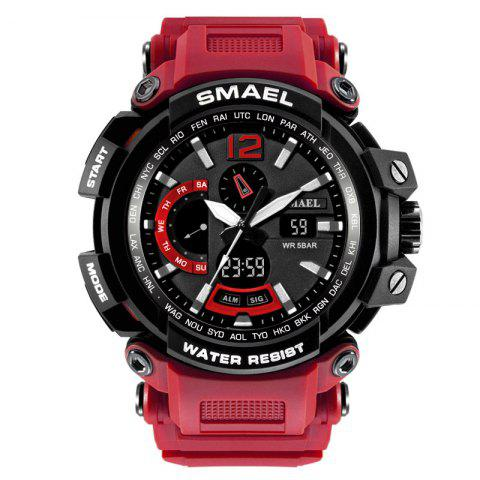 SMAEL 1702 Cool Multi-function Waterproof Electronic Watch - RED