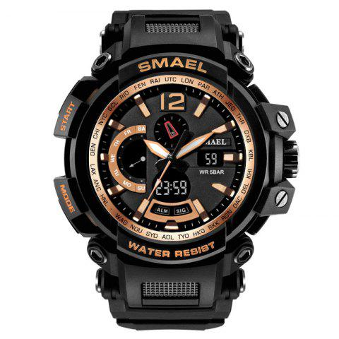 SMAEL 1702 Cool Multi-function Waterproof Electronic Watch - GOLDEN