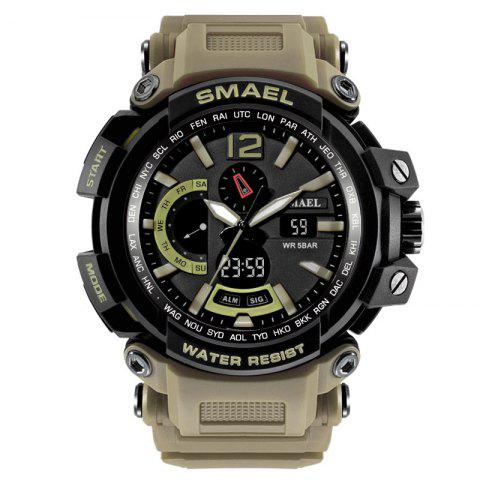 SMAEL 1702 Cool Multi-function Waterproof Electronic Watch - KHAKI