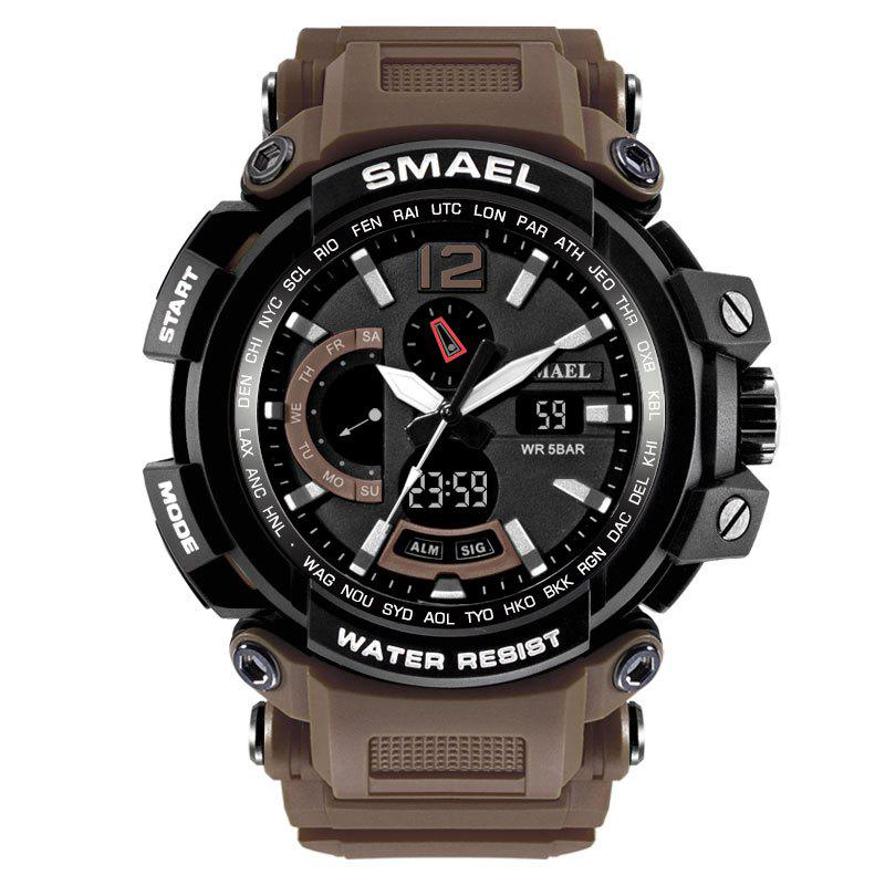 SMAEL 1702 Cool Multi-function Waterproof Electronic Watch - COFFEE