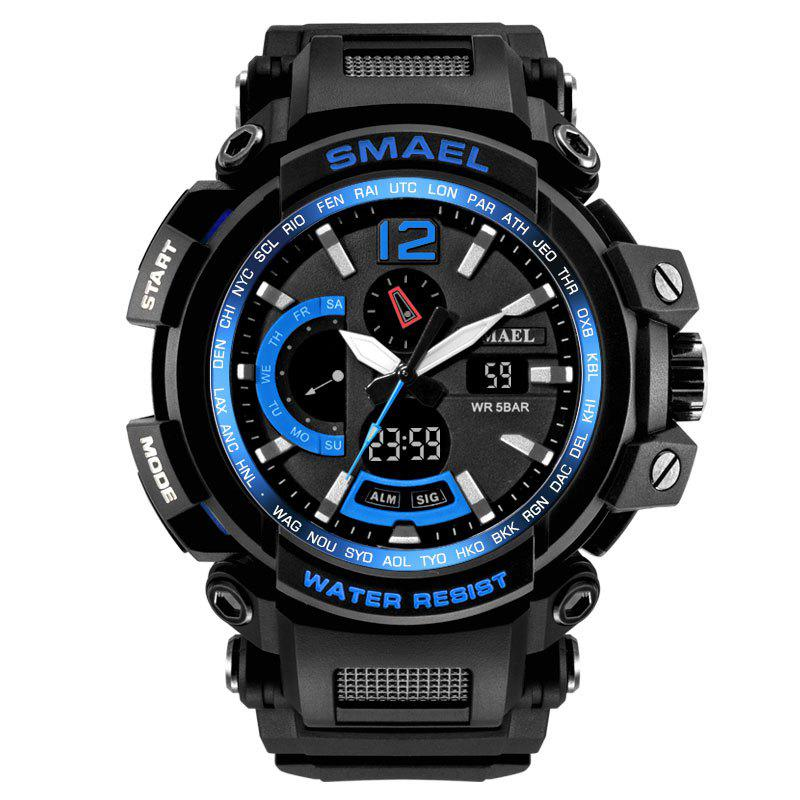 SMAEL 1702 Cool Multi-function Waterproof Electronic Watch - BLACK/BLUE