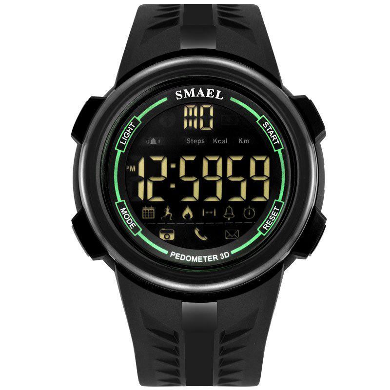 SMAEL 1703 Cool Multi-function Waterproof Electronic Bluetooth Watch - GREEN