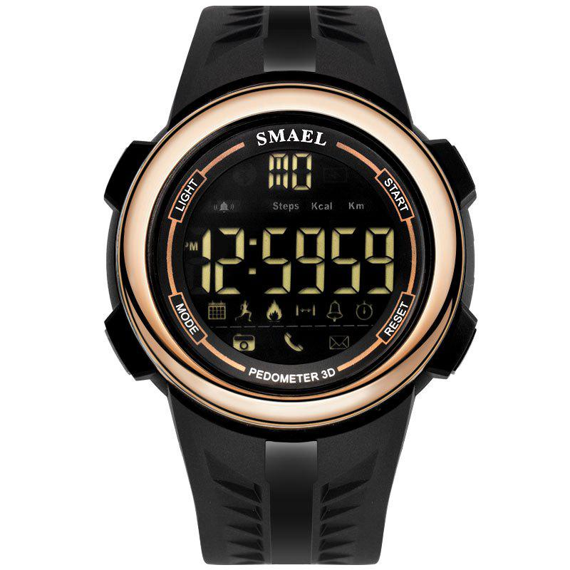 SMAEL 1703 Cool Multi-function Waterproof Electronic Bluetooth Watch - ROSE GOLD