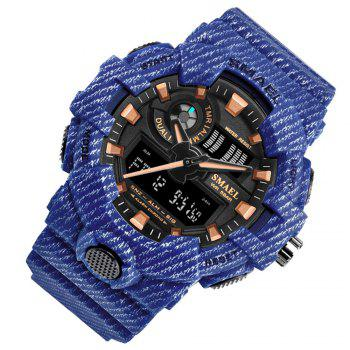 SMAEL 8001 Cool Multi-function Waterproof Electronic Watch - BLUE