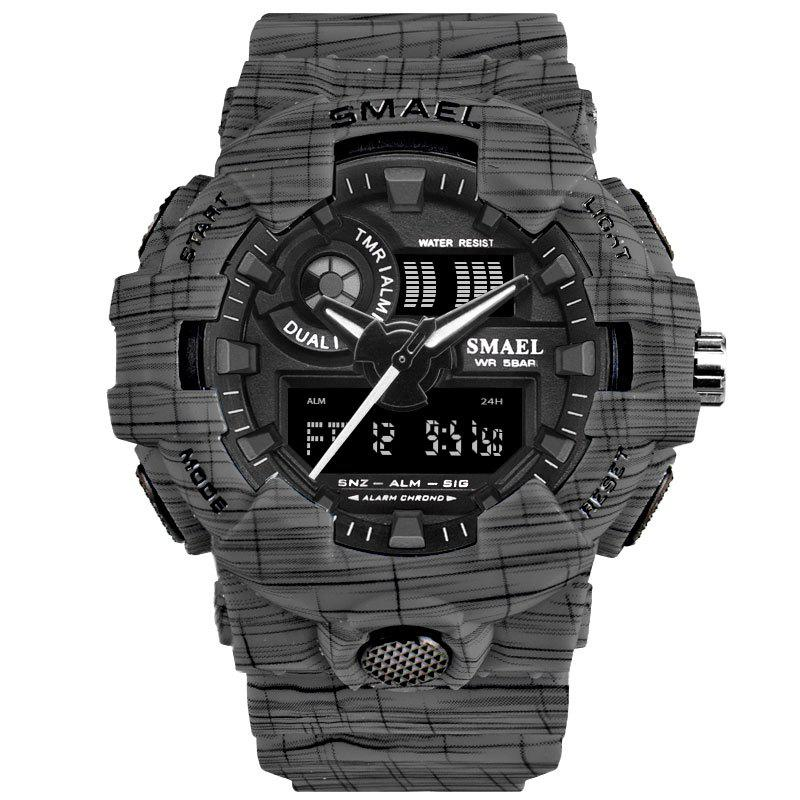 SMAEL 8001 Cool Multi-function Waterproof Electronic Watch - GRAY