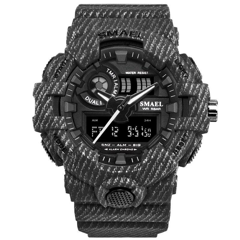 SMAEL 8001 Cool Multi-function Waterproof Electronic Watch - BLACK