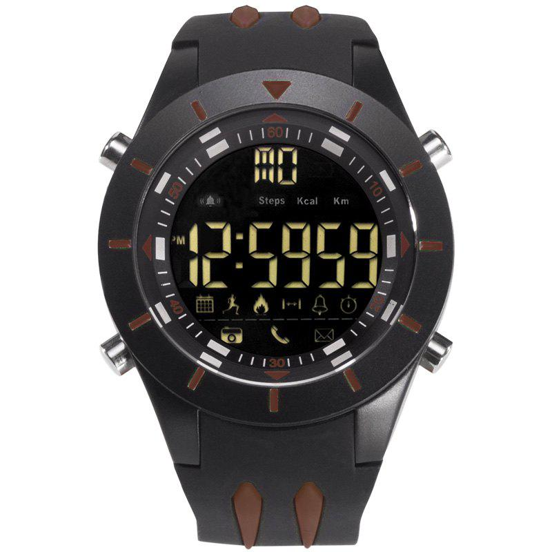 SMAEL 8002 Fashion Multi-function Waterproof Sport Electronic Watch - COFFEE