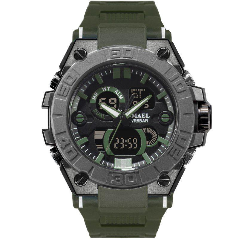 SMAEL 8003 Cool Multi-function Waterproof Sport Electronic Watch - ARMY GREEN
