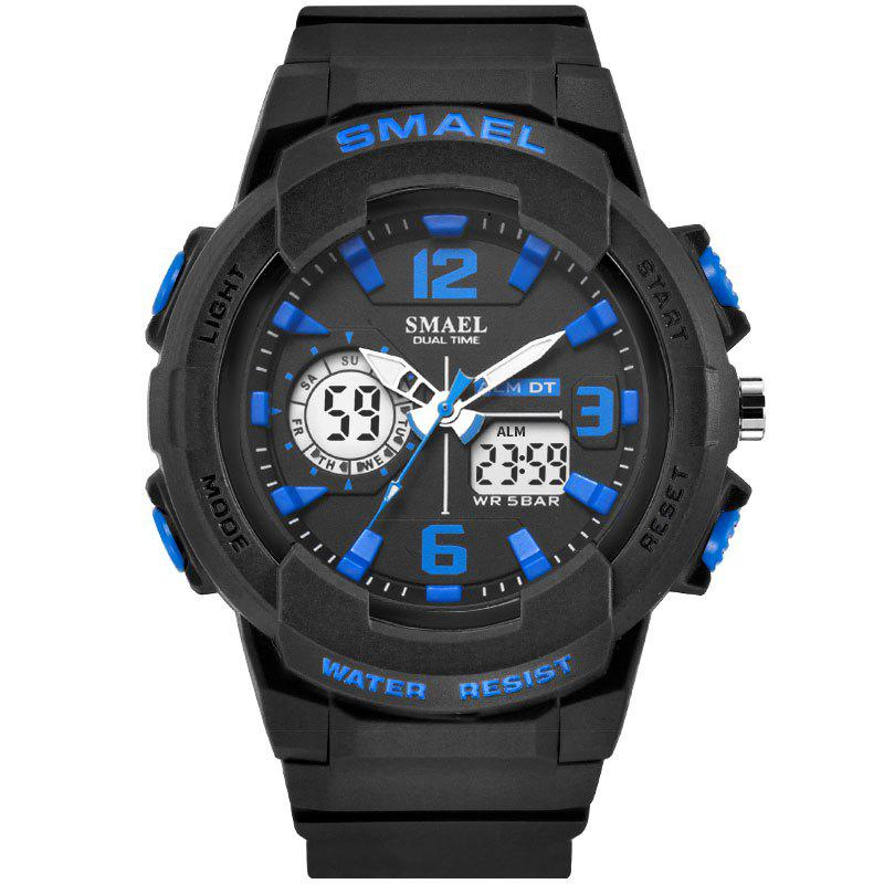 SMAEL 1645 Multi-function Waterproof Sport Electronic Watch - BLACK/BLUE