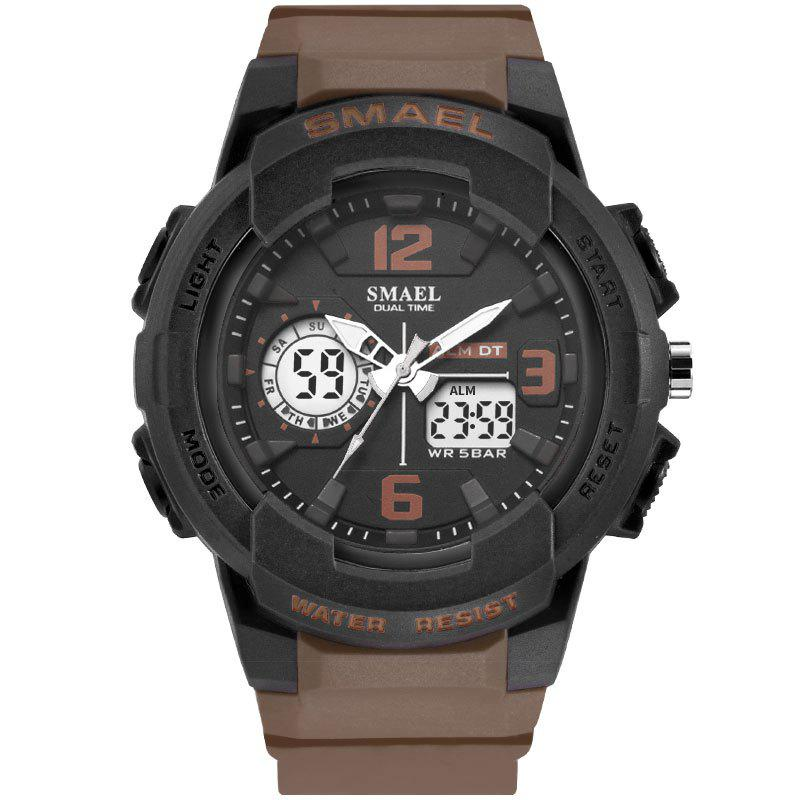 SMAEL 1645 Multi-function Waterproof Sport Electronic Watch - BROWN