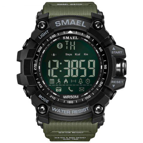 SMAEL 1617 Multi-function Bluetooth Smart Sport Electronic Watch - ARMY GREEN