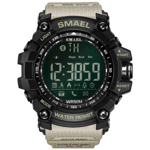 SMAEL 1617 Multi-function Bluetooth Smart Sport Electronic Watch - KHAKI