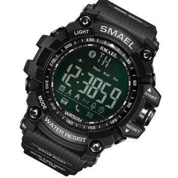 SMAEL 1617 Multi-function Bluetooth Smart Sport Electronic Watch - BLACK