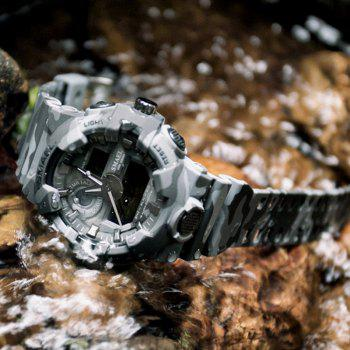 SMAEL 8001 Cool Multi-function Camouflage Waterproof Sport Electronic Watch - GRAY