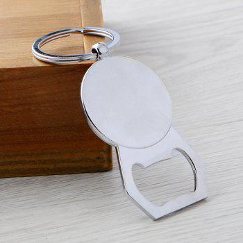 Fashion Multi-function Calendar Bottle Opener Keychain Accessories - SILVER