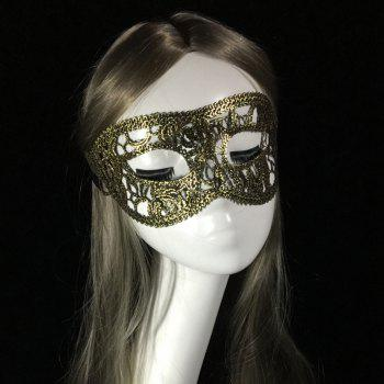 Fashion sexy eye mask prom dress costume ladies gift party lace hot gold flat-head masks - GOLDEN