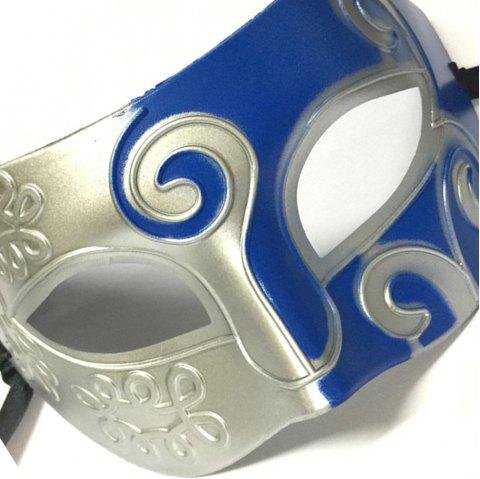 New Jazz Roman Gladiator Party Mask Masquerade Face Half Face Male Female Carnival Easter - BLUE