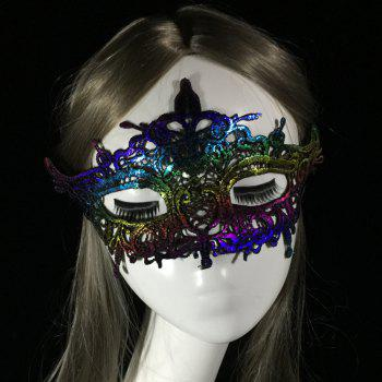 New Festival Rave Dance Stereotypes Lace Hot Color Head Mask - COLOUR