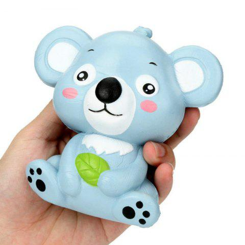 Jumbo Squishy Slow Rising Stress Relief Toy Made By Enviromental PU Replica Cartoon Koala Bear 12CM Height - BLUE